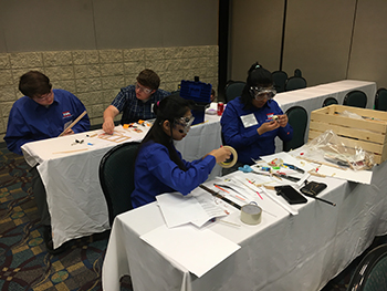 TSA Students Working